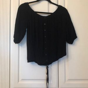 Black Medium sized blouse. Buttons